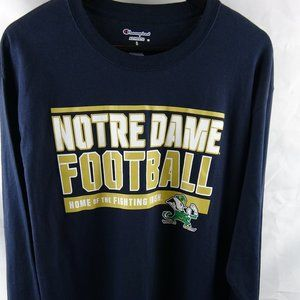 Notre Dame NCAA Men's Large Blue Long Sleeve